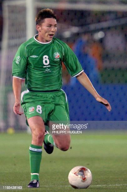 Irish midfielder Matt Holland controls the ball during the Group E first round match Saudi Arabia/Ireland Republic of the 2002 FIFA World Cup in...