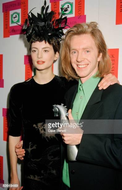 Irish milliner Philip Treacy at the Designer of the Year Awards at the Royal Albert Hall London 22nd October 1996