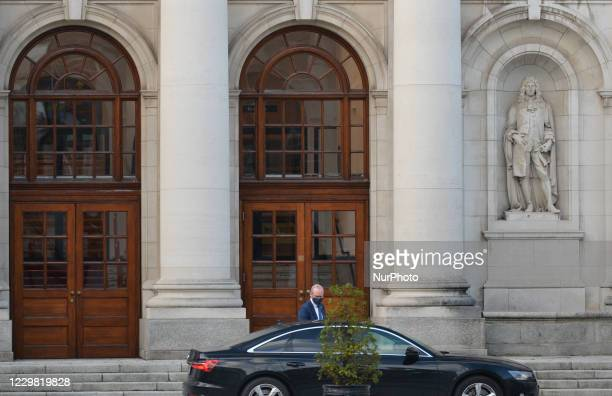 Irish Minister for Foreign Affairs and Minister for Defence, Simon Coveney, on his way to Government Buildings for a Cabinet meeting. Cabinet meets...