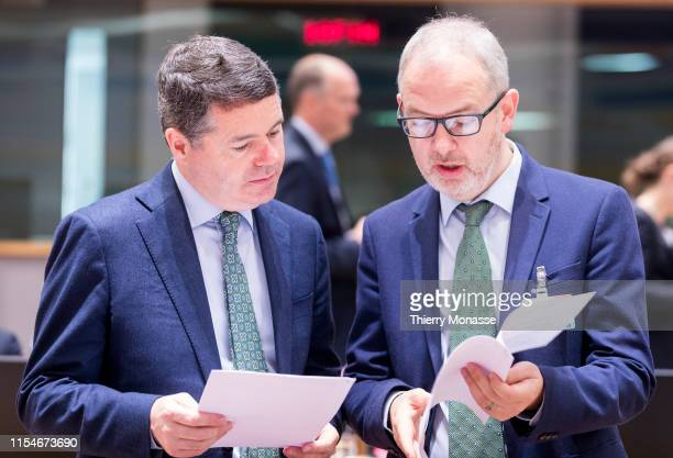 Irish Minister for Public Expenditure and Reform Paschal Luke Donohoe and the Irish Assistant Secretary General with responsibility for Banking and...