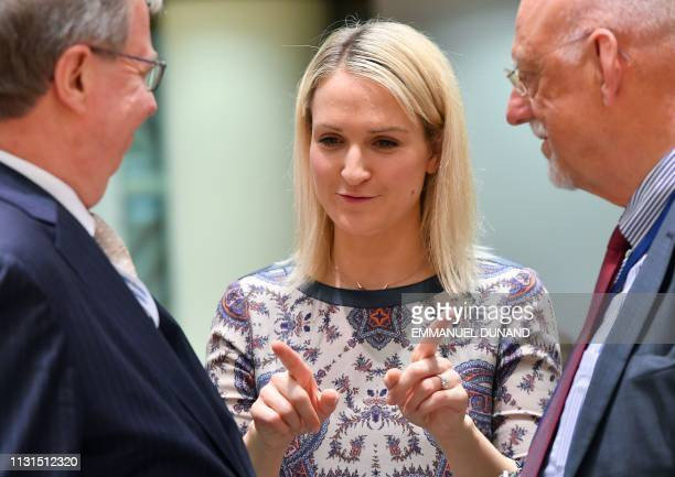 Irish Minister of State for European Affairs Helen McEntee attends a general affairs council on Article 50 negotiations with the United Kingdom at...