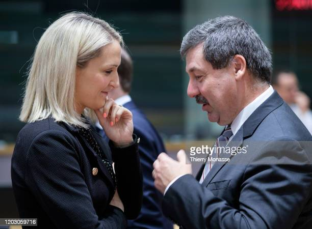 Irish Minister of State for European Affairs Helen McEntee is talking with the Slovak State Secretary of the Ministry of Foreign and European Affairs...