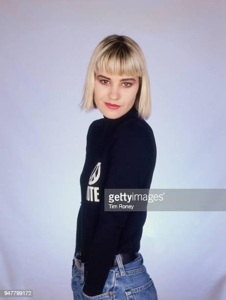 Irish musician and singer Siobhan Fahey of pop girl group Bananarama circa 1985