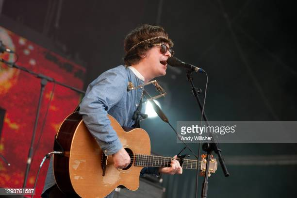 Irish musician and singer-songwriter Fionn Regan performing at the Secret Garden Party in 2010