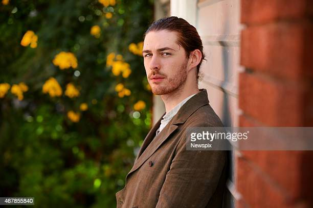Irish musician Andrew HozierByrne known as Hozier poses during a photo shoot on March 26 2015 in Sydney Australia