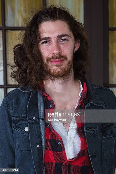 Irish musician Hozier poses for a portrait before performing an EndSession hosted by 1077 The End at Fremont Abbey Arts Center on October 22 2014 in...
