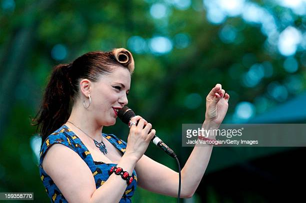 Irish musician Imelda May performs on Central Park's SummerStage New York New York July 27 2011