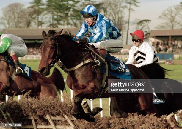 Irish National Hunt jockey Charlie Swan in action circa 1995
