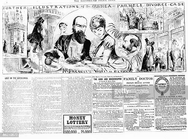 Irish nationalist leader Charles Stewart Parnell with his mistress Katharine O'Shea at Eltham in London November 1890 O'Shea was at the time...