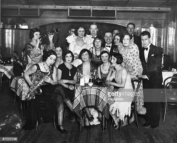 Irish night club owner Kate Meyrick at a welcome back party given at the Silver Slipper Club London to mark her release from prison 1928 Meyrick ran...