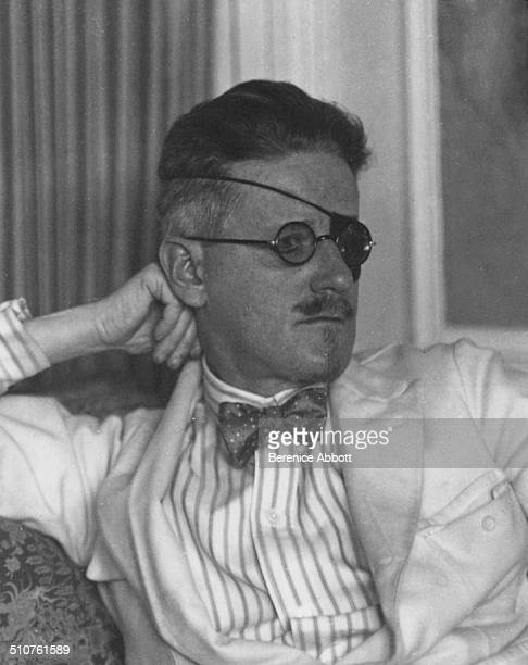 Irish novelist James Joyce wearing an eyepatch 1926