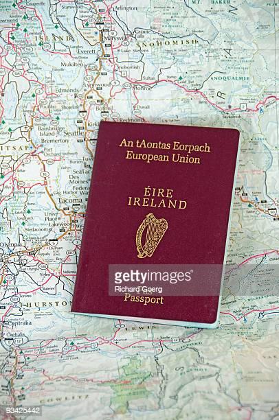 irish passport - irish culture stock pictures, royalty-free photos & images