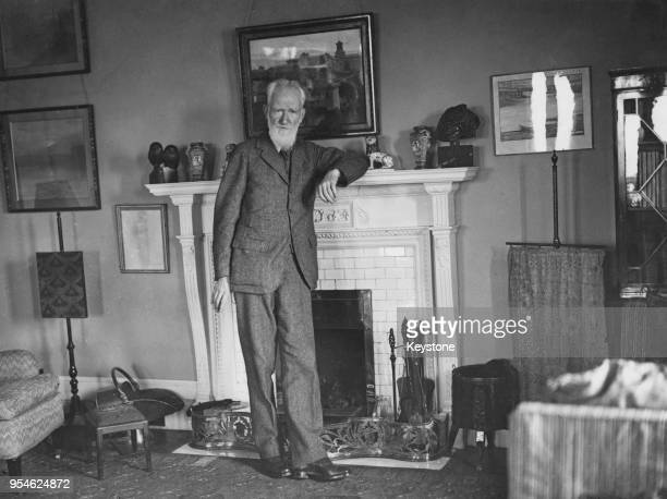 Irish playwright George Bernard Shaw at his home circa 1927
