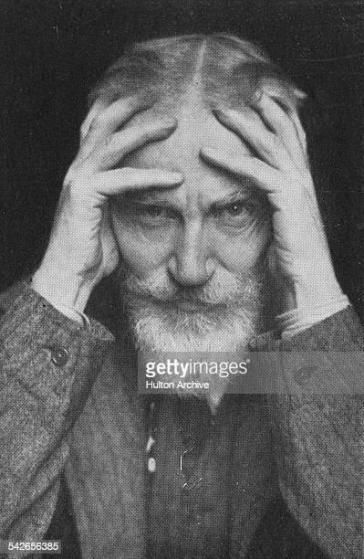 Irish playwright George Bernard Shaw circa 1920