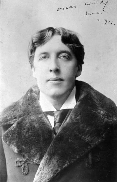 Irish playwright, novelist and wit Oscar Wilde .