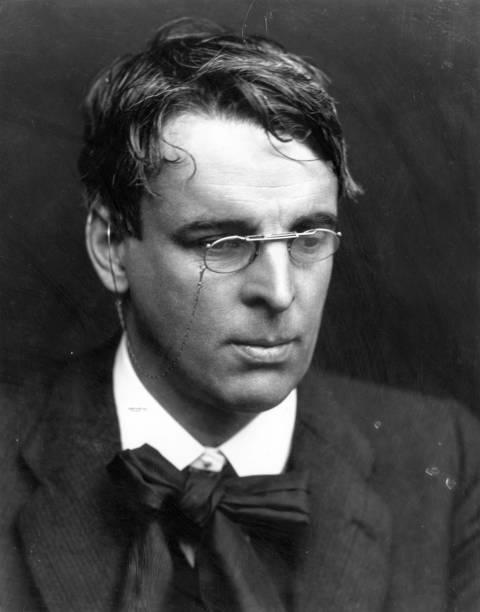 Irish poet and playwright William Butler Yeats who...