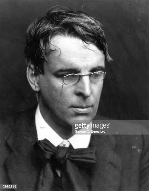 Irish poet and playwright William Butler Yeats who received the Nobel prize for Literature in 1923