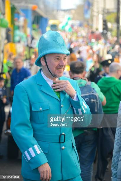 Irish policeman at the Saint Patrick's Day Parade in London