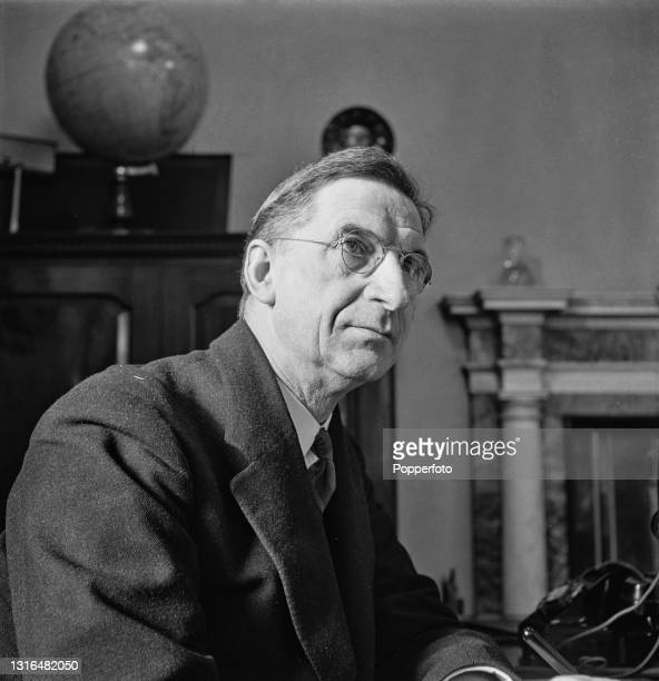 Irish politician and Taoiseach of Ireland Eamon de Valera seated at a desk in his office in Dublin, Ireland during World War II on 6th May 1941.