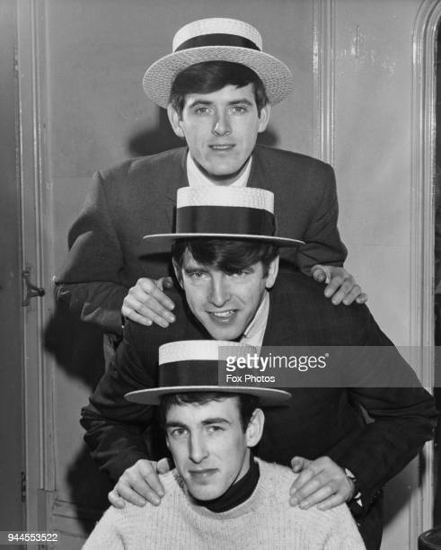 Irish pop group The Bachelors, consisting of John Stokes, Declan Cluskey and his brother Conleth Cluskey, March 1964.