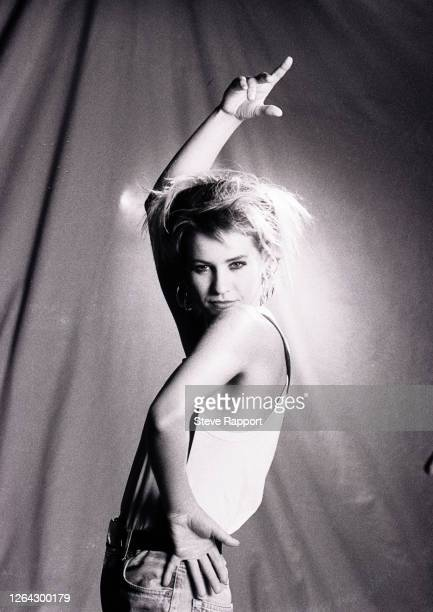 Irish Pop musician Siobhan Fahey, of the group Bananarama, films the 'More Than Physical' video, 7/24/1986.