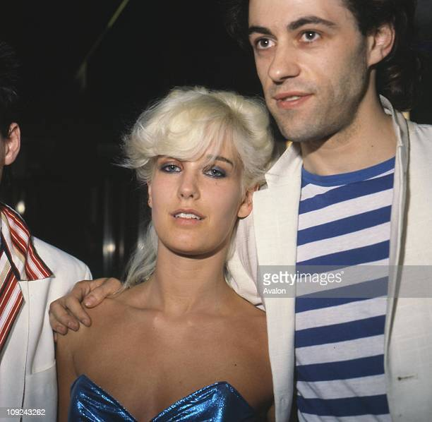 Irish Pop Singer Bob Geldof Member of the 'Boomtown Rats' with his girlfriend PAULA YATES British Model and Journalist