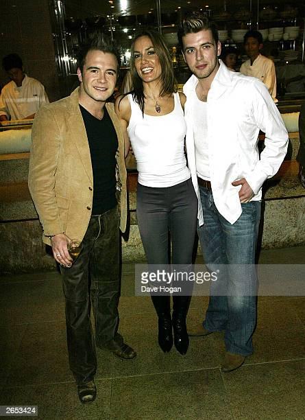 "Irish pop stars Shane Filan and Mark Feehily and British socialite Tara Palmer-Tomkinson attend Westlife's ""Unbreakable"" album launch at the Zuma..."