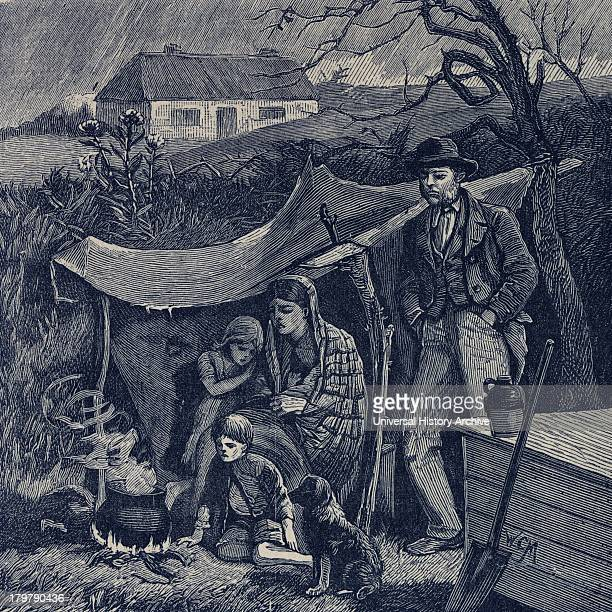 Irish potato famine 1840s Evicted family