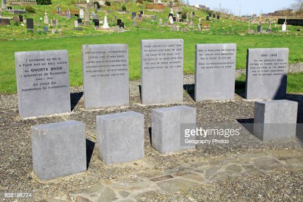 Irish potato famine memorial at Abbeystrewry cemetery Skibbereen County Cork Ireland Irish Republic