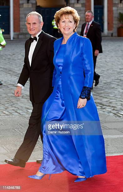 Irish President Mary McAleese and husband Martin McAleese arrive for a State Dinner on May 18, 2011 in Dublin, Ireland. The Duke and Queen's visit to...