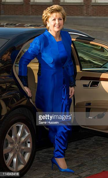 Irish President Mary McAleese arrives for a State Dinner at Dublin Castle on May 18, 2011 in Dublin, Ireland. The Duke and Queen's visit to Ireland...