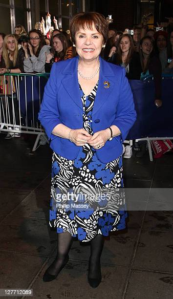 Irish presidential candidate Dana Rosemary Scallon visits 'The Late Late Show' at RTE Studios on September 30 2011 in Dublin Ireland