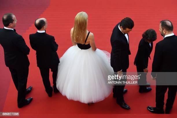 Irish producer Andrew Lowe Irish producer Ed Guiney Australian actress Nicole Kidman Irish actor Colin Farrell US actor Sunny Suljic and Greek...