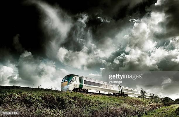 irish rail dmu in sallins - kildare stock photos and pictures