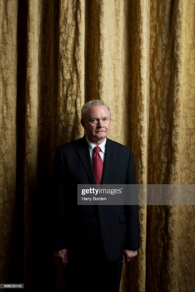 Irish republican and Sinn Féin politician Martin McGuinness is photographed for the Sunday Times magazine on October 6, 2011 in Belfast, Northern Ireland.