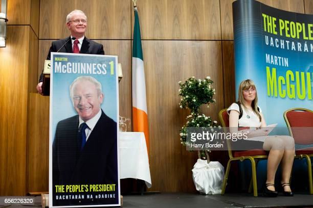 Irish republican and Sinn Féin politician Martin McGuinness is photographed for the Sunday Times magazine on October 6 2011 in Belfast Northern...
