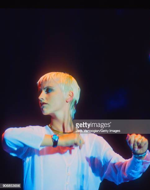 Irish Rock musician Dolores O'Riordan performs with her band the Cranberries at Central Park SummerStage New York New York August 11 1994