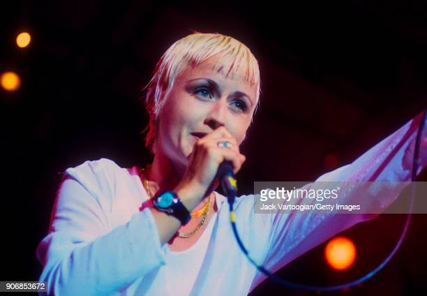 Irish Rock musician Dolores O'Riordan performs with her band the Cranberries at Central Park SummerStage, New York, New York, August 11, 1994.