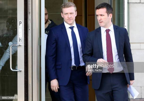 Irish rugby player Stuart Olding leaves court in Belfast on March 28 after being found not quilty of a charge of rape Ireland rugby players Stuart...