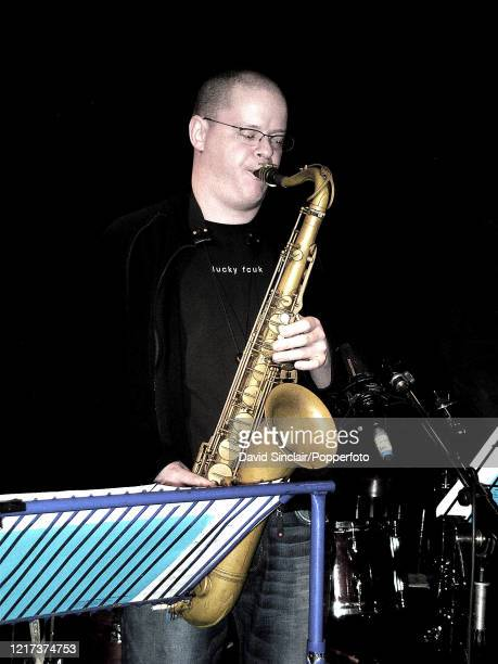 Irish saxophone player Michael Buckley performs live on stage at Ronnie Scott's Jazz Club in Soho London on 1st March 2004