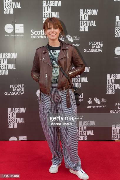 Irish singer and actress Jessie Buckley attends the UK Premiere of 'Beast' during the 14th Glasgow Film Festival at Glasgow Film Theatre on February...