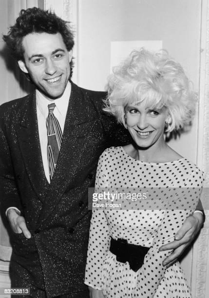 Irish singer Bob Geldof and his girlfriend Paula Yates at a publishing event London 30th October 1984