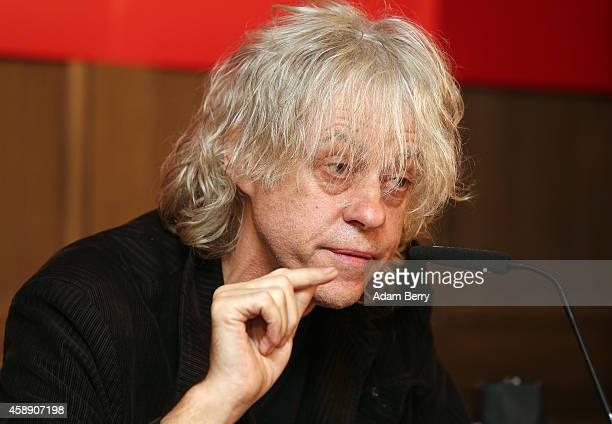 Irish Singer Bob Geldof speaks during a press conference about the German version of a 30th anniversary edition of the 80s poverty benefit project...