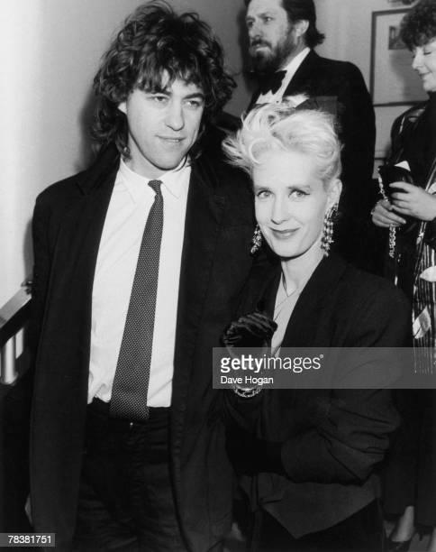 Irish singer Bob Geldof with his girlfriend Paula Yates at the BAFTA Awards in London 18th March 1986