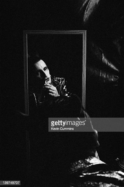 Irish singer Bono, backstage at the Feijenoord Stadion, Rotterdam, in his stage persona of Mr MacPhisto, before a concert by rock group U2 on their...