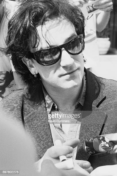 Irish singer Bono of rock group U2 in Rotterdam during the band's Zoo TV tour 11th May 1993
