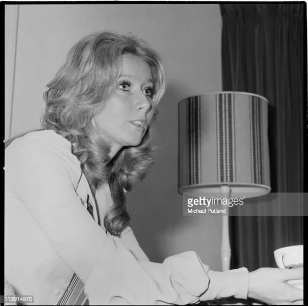 Irish singer Clodagh Rodgers at home 1st January 1971