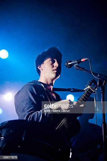 Irish singer Conor J O'Brien of the band Villagers performs live in support of Grizzly Bear during a concert at Astra Kulturhaus on October 31 2012...