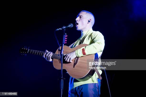 Irish singer Dermot Kennedy performs live on stage during a concert at the Columbiahalle on November 10 2019 in Berlin Germany