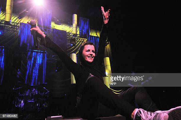 Irish singer Dolores O'Riordan of Irish rock band The Cranberries performs on stage in Nantes western France on March 5 2010 AFP PHOTO / FRANK PERRY